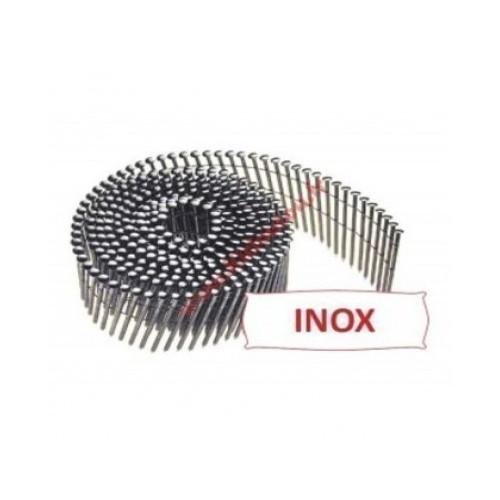 Clous rouleaux inox 2.50 x 64 mm boite de 3600