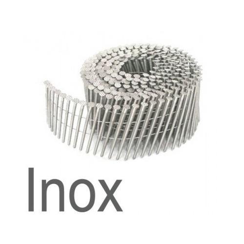 Clous rouleaux plat 3.10 x 90 annelés inox