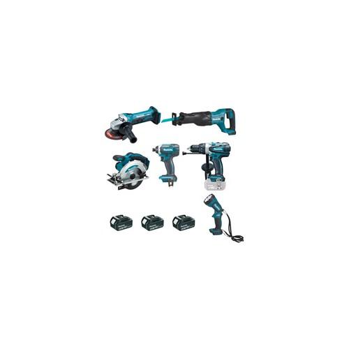 Ensemble de 6 machines 18 V 4 Ah