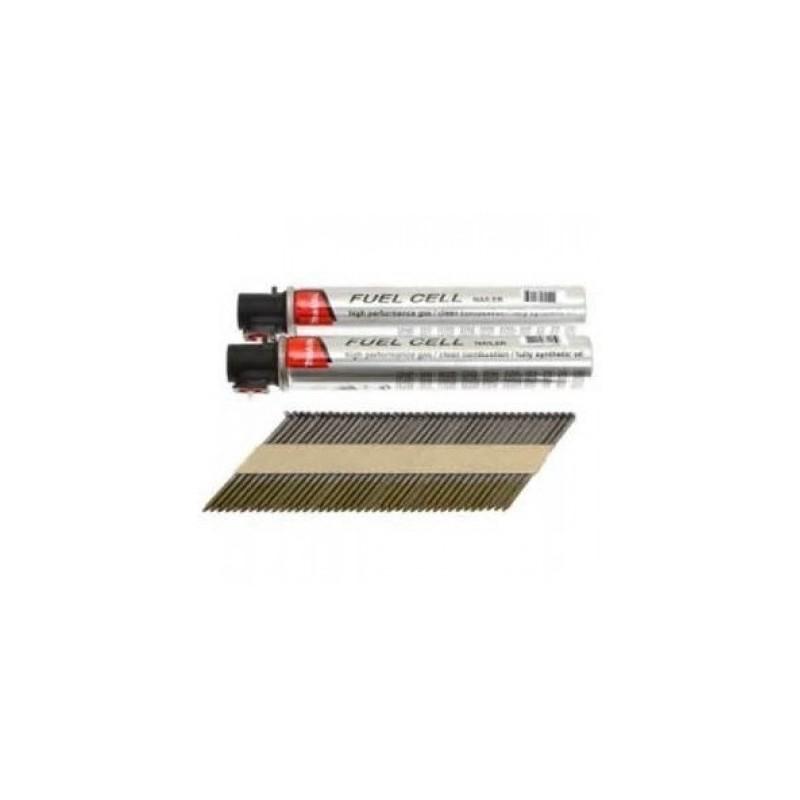 Clous bande D34° 2.80 x 50 boite de 3000 + 3 cartouches de gaz