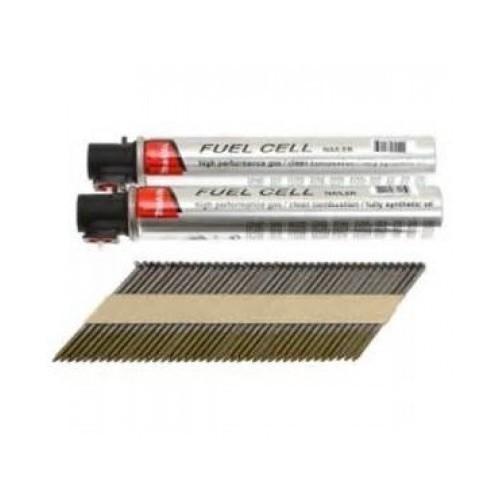 Clous D34° en bande 2.80 x 70 boite de 3000 + 3 cartouches de gaz