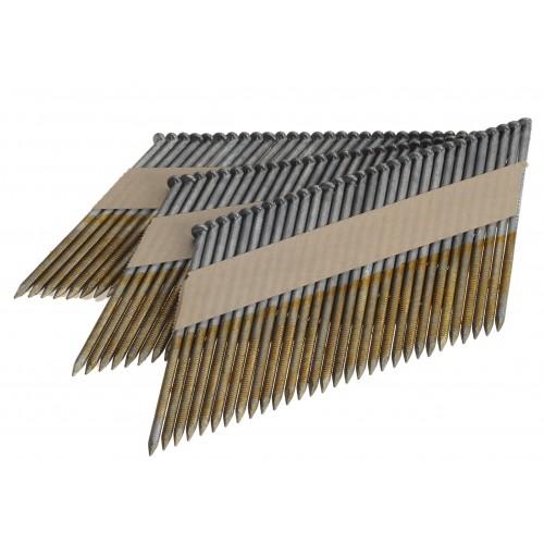Clous D 34° 3.10 x 100 torsadés galva boite de 3000