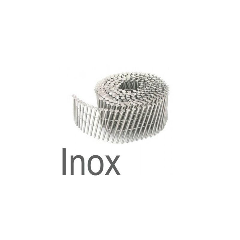 clous rouleaux plat 16° 2.80 x 70 annelés INOX boite de 6000