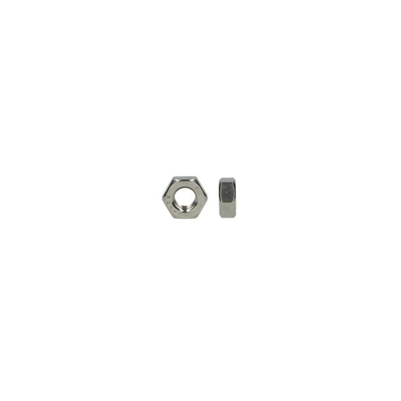 écrou hexagonal Inox A2 diamètre 20 mm boite de 50