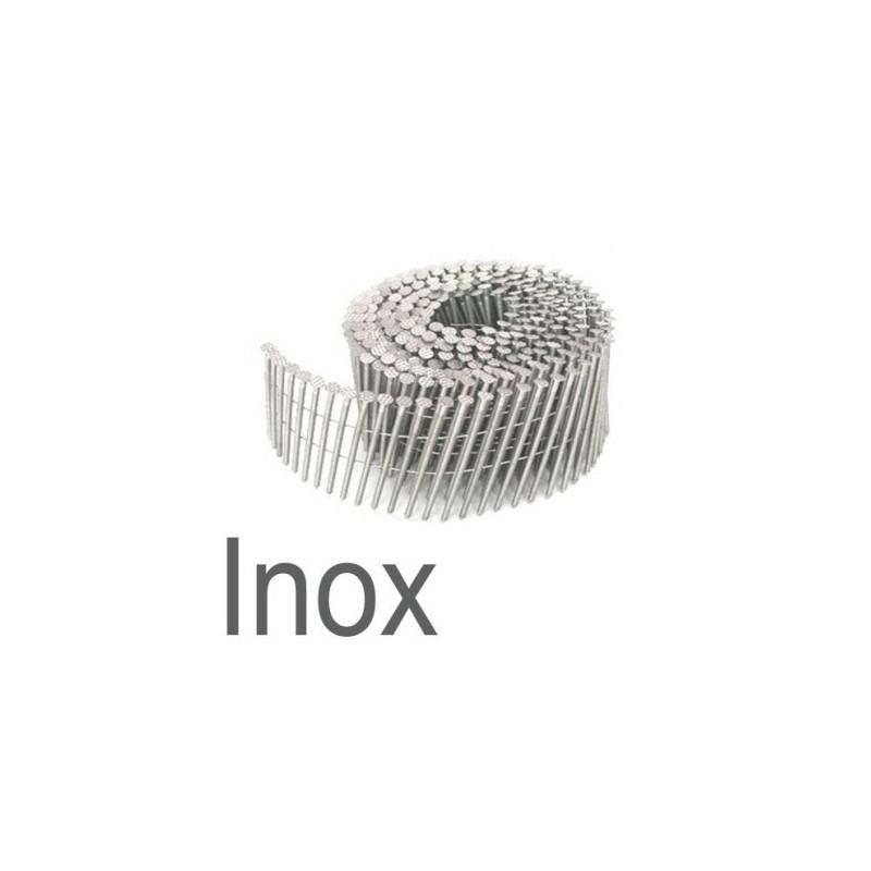 Clous rouleaux 2.30 x 55 annelés INOX boite de 9000
