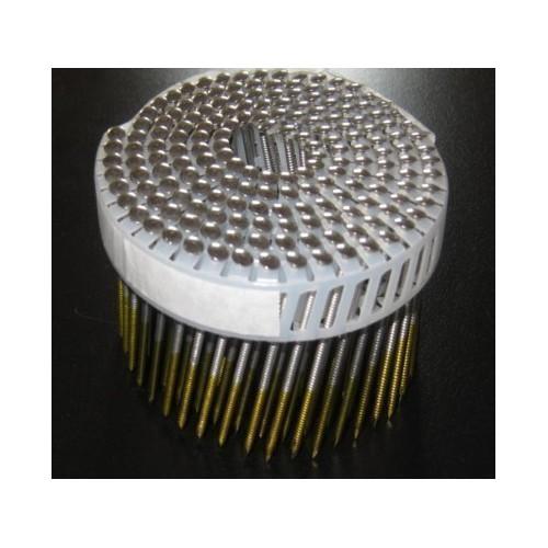 Clous rouleaux 2.50 x 55 annelés INOX boite de 5250