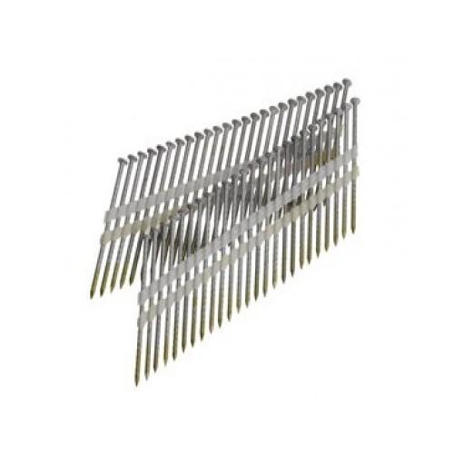 Clous bande 21° 3.80x130 lisses clair boite de 1000
