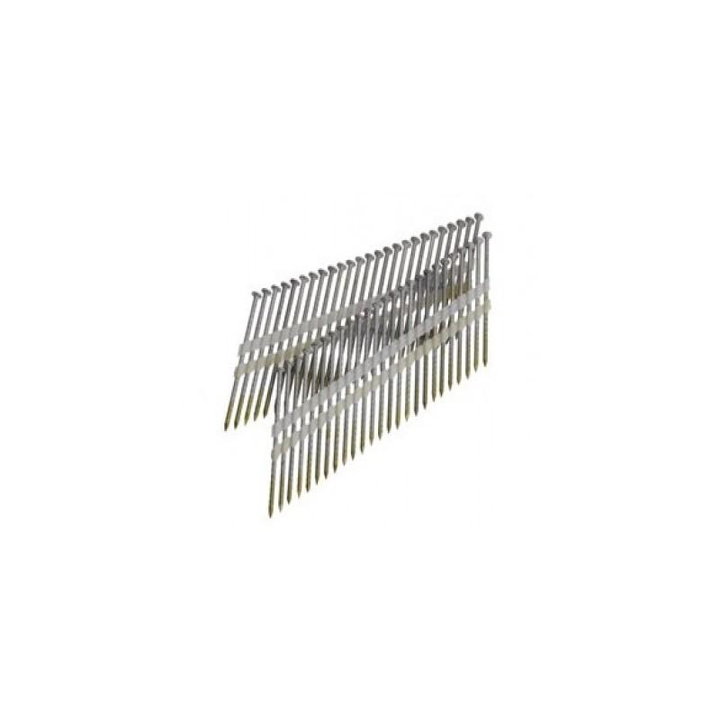 Clous bande 21° 3.80 x 130 torsadés clair boite de 1000