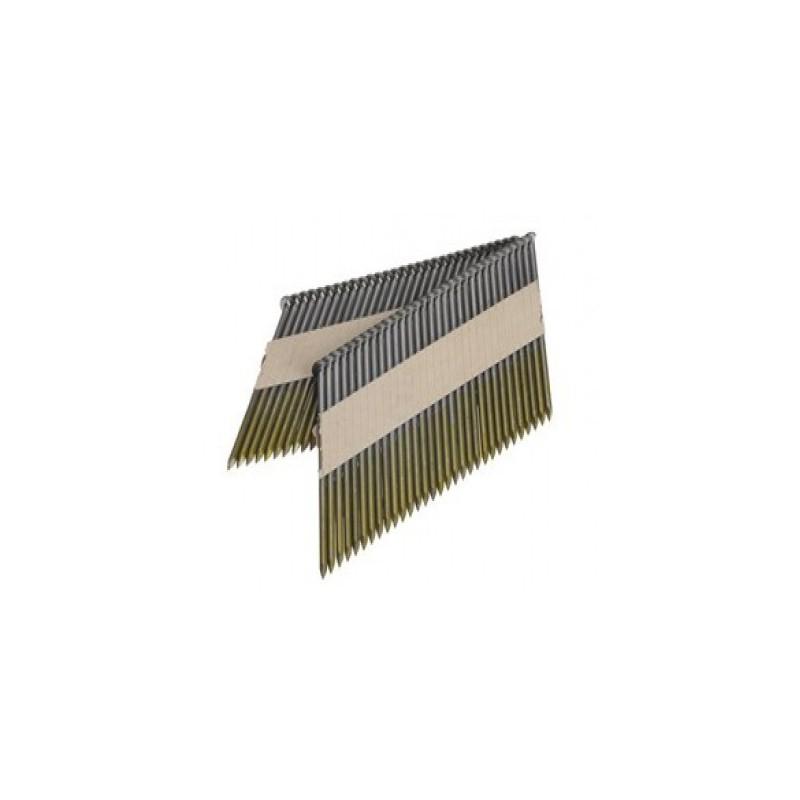 Clous D34° en bande 2.80x65 annelés galva boite de 3000