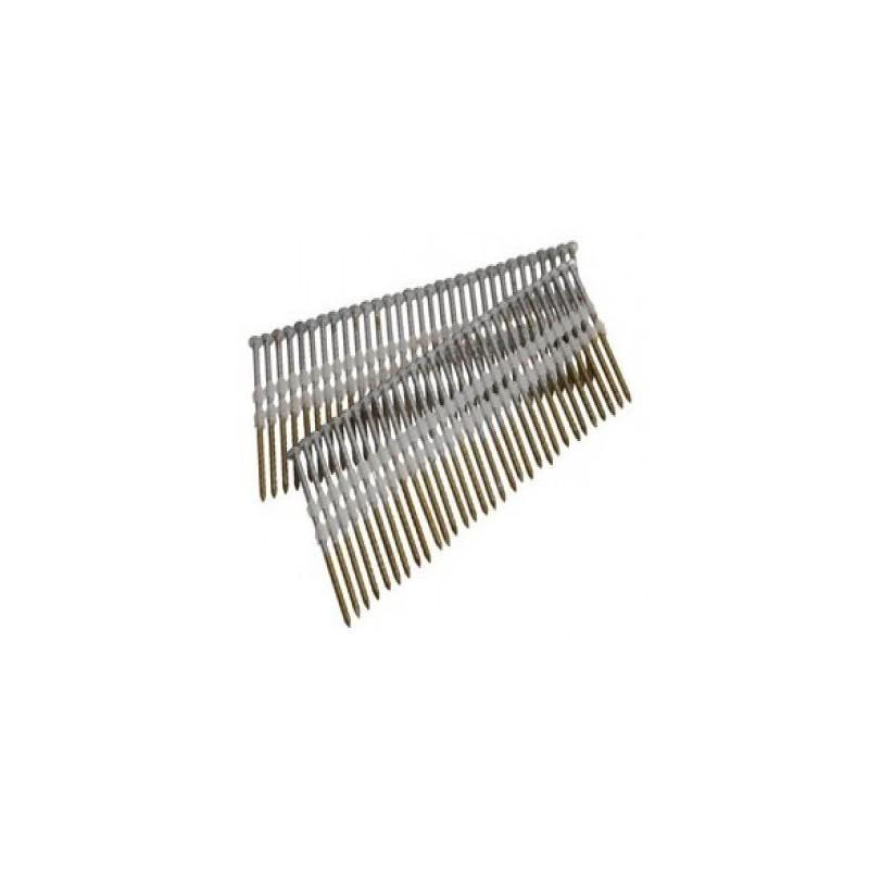 Clous bande 21° 3.80 x 110 torsadés galva boite de 1000